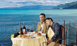 Steve Coogan and Rob Brydon in Camogli, Italy
