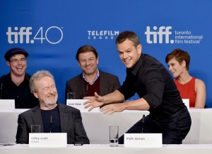 "2015 Toronto International Film Festival - ""The Martian"" Press Conference"
