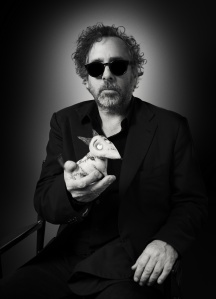 FRANKENWEENIE - (Pictured) Tim Burton holding Sparky. ©2012 Disney Enterprises, Inc. All Rights Reserved. Photo by: Leah Gallo