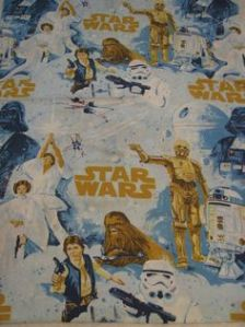 The infamous Star Wars sheets. I also had a flannel blanket but we buried my dead dog in it.