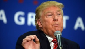Donald Trump Holds Campaign Rally In Keene, New Hampshire