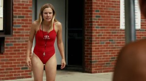 Kristen-Bell-Wearing-a-Red-Swimsuit-in-The-Lifeguard-Trailer-01